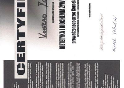 Certyfikat - Dietetyka Biochemiczna Żywienia w Sporcie