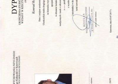 Dyplom Ukończenia Studiów Drugiego Stopnia - AWF